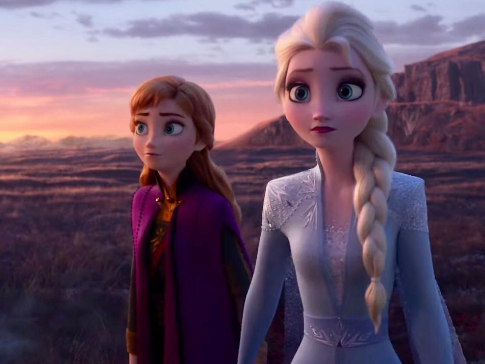 """Anna and Elsa travel to the Enchanted Forest in """"Frozen 2."""""""