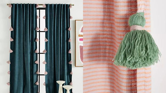 Anthropologie is one of the best places to buy stylish curtains online—and this playful option can be a great choice if you're looking to filter out light, too.