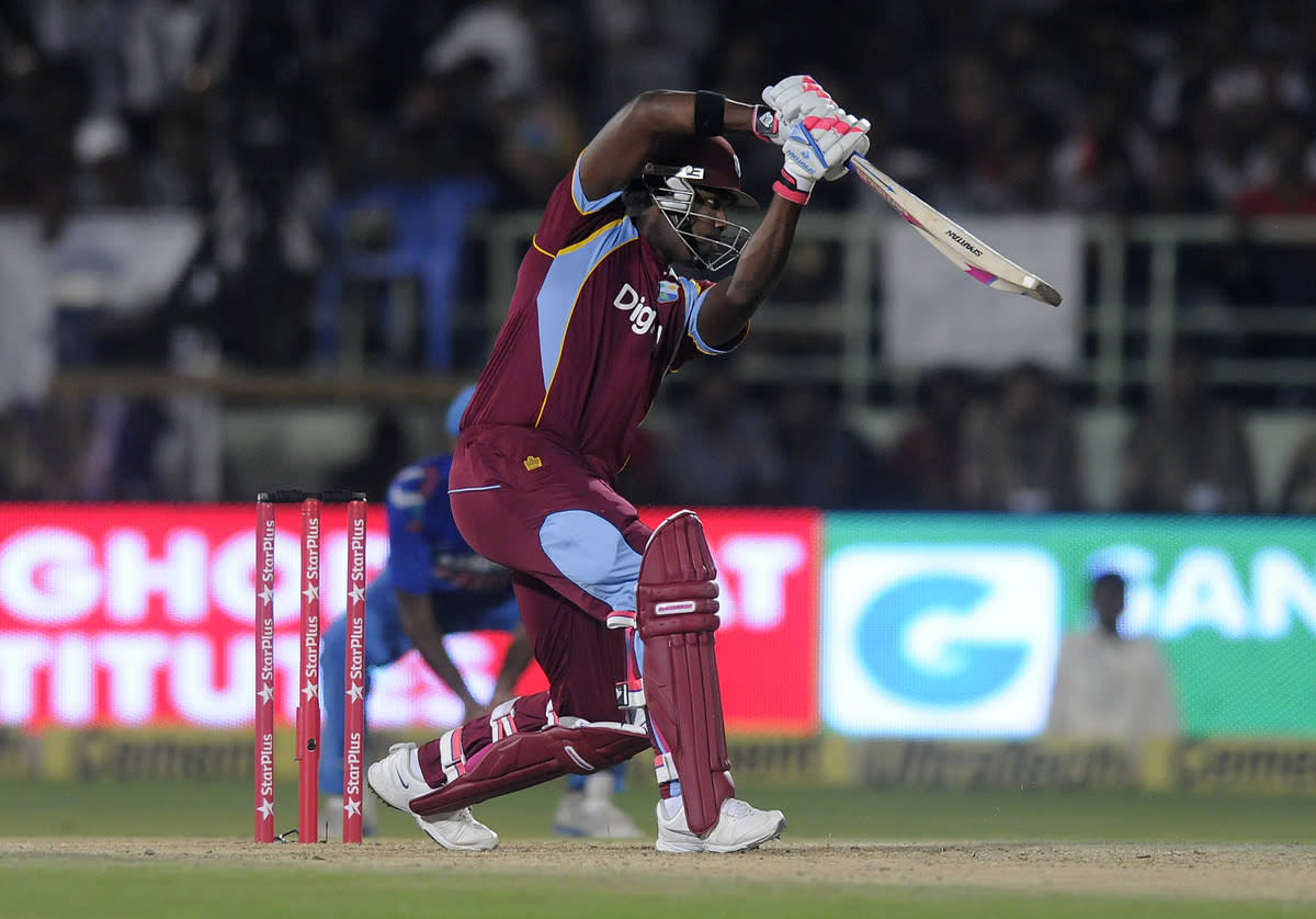 Darren Bravo of West Indies bats during the second Star Sports One Day International (ODI) match between India and The West Indies held at the Dr. Y.S. Rajasekhara Reddy ACA-VDCA Cricket Stadium, Vishakhapatnam, India on the 24th November 2013  Photo by: Pal Pillai - BCCI - SPORTZPICS   Use of this image is subject to the terms and conditions as outlined by the BCCI. These terms can be found by following this link:  https://ec.yimg.com/ec?url=http%3a%2f%2fsportzpics.photoshelter.com%2fgallery%2fBCCI-Image-Terms%2fG0000ahUVIIEBQ84%2fC0000whs75.ajndY&t=1506398887&sig=06iO_TGov4cwcOkf05VXAg--~D