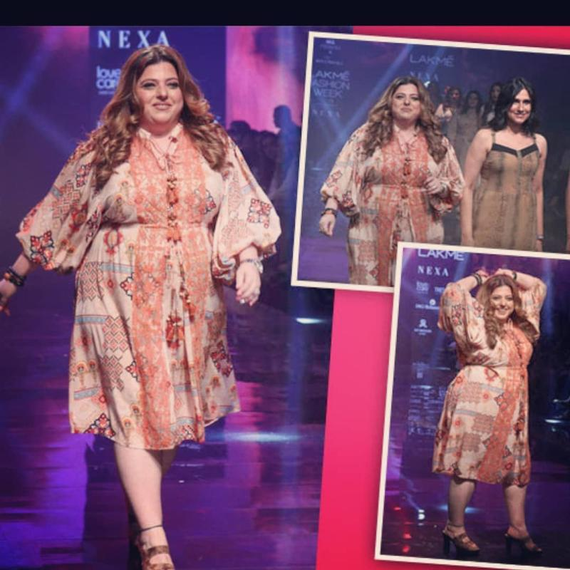 A scene from Rina Dhaka's fashion show which promotes size inclusivity