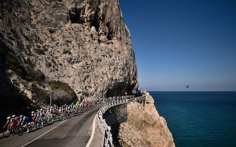 <span>Taking the coastal road to Sanremo</span> <span>Credit: GETTY IMAGES </span>