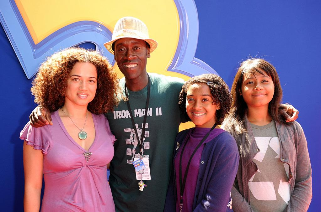 """<a href=""""http://movies.yahoo.com/movie/contributor/1800020725"""">Don Cheadle</a> and family at the Los Angeles premiere of <a href=""""http://movies.yahoo.com/movie/1809266566/info"""">Toy Story 3</a> - 06/13/2010"""
