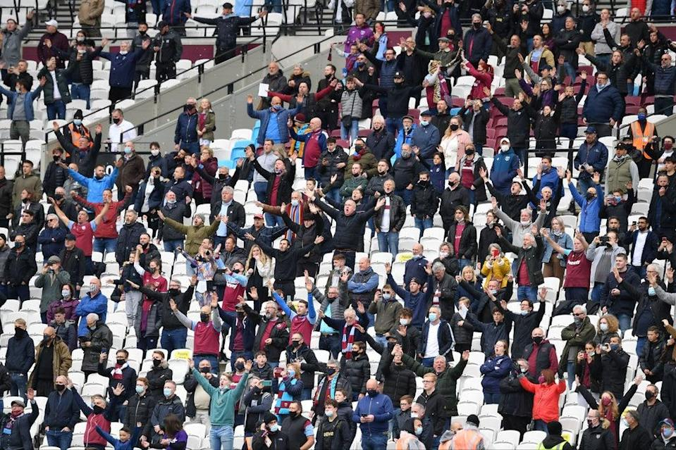 West Ham will welcome back a full crowd to the London Stadium against Leicester  (POOL/AFP via Getty Images)