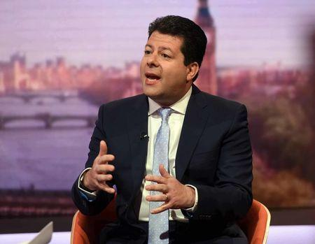 The Chief Minister of Gibraltar, Fabian Picardo, is seen speaking on the BBC's Andrew Marr Show in this photograph received via the BBC in London