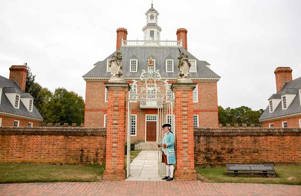 """<p>It's like a real-life textbook in Williamsburg. From revolutionary and olden times, Greater Williamsburg is where the <a href=""""https://www.visitwilliamsburg.com/trip-idea/first-thanksgiving-america"""" rel=""""nofollow noopener"""" target=""""_blank"""" data-ylk=""""slk:first English Thanksgiving"""" class=""""link rapid-noclick-resp"""">first English Thanksgiving</a> took place in America. While sites are open in-person following COVID safety, your kids can immerse themselves straight from the couch at home through their <a href=""""https://www.colonialwilliamsburg.org/learn/virtual-tours/?utm_medium=partner&utm_source=visitwilliamsburg&utm_campaign=brand&utm_content=virtual_tours&nck="""" rel=""""nofollow noopener"""" target=""""_blank"""" data-ylk=""""slk:virtual experiences"""" class=""""link rapid-noclick-resp"""">virtual experiences</a>. </p><p>Explore the Capital, Art Museums of Colonial Williamsburg, and the beautiful Governor's Palace. In the Governor's Palace virtual tour, you can walk through the doors and click on icons to learn more. With so much rich history at your fingertips, your children won't be bored. Fun fact: at one point the Governor's Palace was home to none other than Thomas Jefferson himself!</p>"""