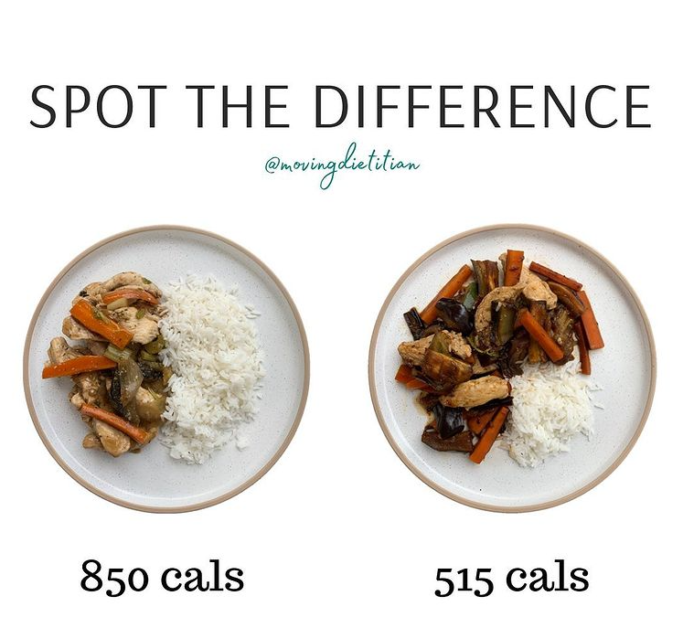 movingdietitian instagram spot the difference chicken stir fry