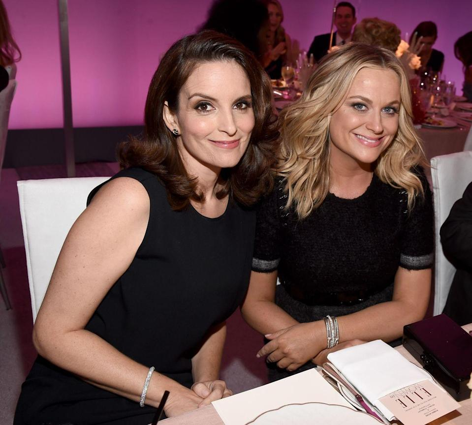 """<p>""""People think of us as a 'comedy team' and I am not quick to correct them. Why wouldn't I want to connect myself to the fiercest and most talented voice in the comedy world?"""" — Amy Poehler, <em><a href=""""https://www.vulture.com/2013/01/history-of-tina-and-amys-best-friendship.html"""" rel=""""nofollow noopener"""" target=""""_blank"""" data-ylk=""""slk:Yes Please"""" class=""""link rapid-noclick-resp"""">Yes Please</a></em></p><p>""""She's fearless. Not only is she not afraid to look silly, she's not afraid to let you throw her in the air like a basketball and catch her."""" — Tina Fey,<em> <a href=""""https://people.com/archive/amy-poehler-vol-69-no-17/?xid=popsugar"""" rel=""""nofollow noopener"""" target=""""_blank"""" data-ylk=""""slk:People"""" class=""""link rapid-noclick-resp"""">People</a></em></p>"""