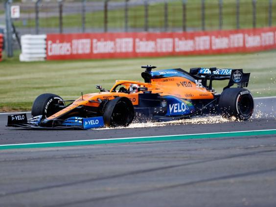Carlos Sainz saw his British Grand Prix hopes go up in smoke due to a late puncture (Getty)