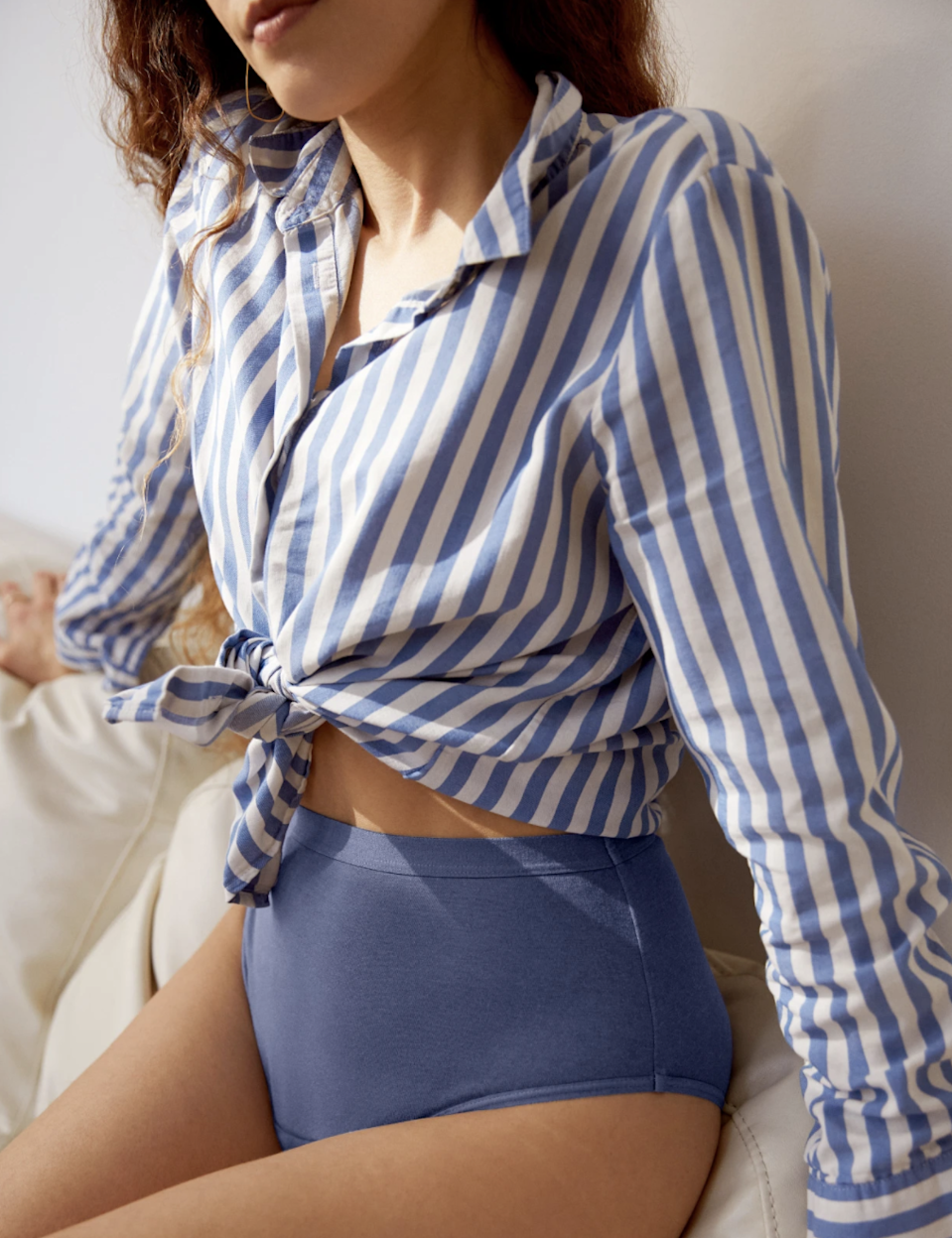 "<p>Another must-have from Knix: The brand's latest launch, designed for cotton lovers on their heaviest days.</p> <p><strong>Key selling points:</strong> The new Cotton Modal Super Leakproof Underwear is here to keep you confident and secure on super-heavy days, and holds up to eight tampons' worth of liquid. Despite being the most absorbent option from the brand, it's still breathable, thanks to a cotton modal and spandex multilayer design. Plus, modal is an eco-friendly fabric made from regenerative plants and requires less water and fewer chemicals during production—so the sustainable shopper can feel good about using fewer tampons <em>and</em> less water.</p> <p><strong>What customers say:</strong> ""I wasn't sure about these because of the rise and my shape, but these are so comfy and stayed put! The band is super helpful, it feels like an extra level of security that these aren't going to shift in the night. And I love the breathable cotton to sleep in. Great bum coverage, and I don't notice the pad at all! I could wear these all day long easily."" —<em>Kamora, reviewer on</em> <a href=""https://cna.st/affiliate-link/4cnpy7ZU4zypFCb1B5nYwzuFWzQ8R8ehqnmyRzyTs4EDdskm9AYHr3oAqhG3opVLdBYmdNCUECozGVit2FigW1w44b7WKiLK5tXqZ9GtSvmMVnr1ABRQCVHyP8B5d35ywfu73ZjC2VFKGG9QXEpNZVN3Bxp7UifpEDKYKczgtHU?cid=60410fcf8a84910f14a6f73f"" rel=""nofollow noopener"" target=""_blank"" data-ylk=""slk:Knix"" class=""link rapid-noclick-resp""><em>Knix</em></a></p> $35, Knix. <a href=""https://knix.com/collections/cotton-modal/products/cotton-modal-super-leakproof-high-rise-indigo"" rel=""nofollow noopener"" target=""_blank"" data-ylk=""slk:Get it now!"" class=""link rapid-noclick-resp"">Get it now!</a>"