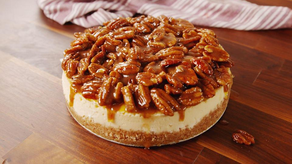 """<p>Making cheesecake is easier than you think! Whip up one of these easy, homemade recipes to impress your friends. Plus, try our <a href=""""https://www.delish.com/cooking/g2897/no-bake-cheesecakes/"""" rel=""""nofollow noopener"""" target=""""_blank"""" data-ylk=""""slk:favorite no-bake cheesecakes"""" class=""""link rapid-noclick-resp"""">favorite no-bake cheesecakes</a>! Looking for more delicious dessert ideas? Check out our irresistable <a href=""""https://www.delish.com/cooking/g1956/best-cookies/"""" rel=""""nofollow noopener"""" target=""""_blank"""" data-ylk=""""slk:cookies"""" class=""""link rapid-noclick-resp"""">cookies</a>, <a href=""""https://www.delish.com/cooking/recipe-ideas/g2796/brownie-recipes/"""" rel=""""nofollow noopener"""" target=""""_blank"""" data-ylk=""""slk:brownies"""" class=""""link rapid-noclick-resp"""">brownies</a>, and <a href=""""https://www.delish.com/cooking/recipe-ideas/g3348/skillet-desserts/"""" rel=""""nofollow noopener"""" target=""""_blank"""" data-ylk=""""slk:skillet desserts"""" class=""""link rapid-noclick-resp"""">skillet desserts</a>.</p>"""