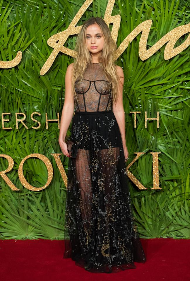 <p>She definitely lived up to that title when she wore a daring see-through black lace gown to the British Fashion Awards this week.</p>