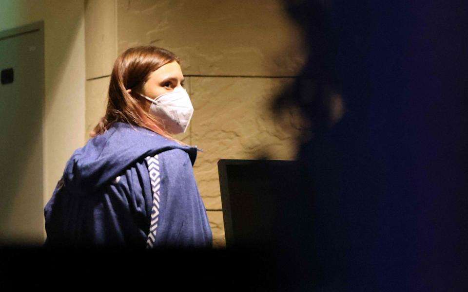 Krystsina Tsimanouskaya on Wednesday boarded a flight for Vienna despite initial plans to travel to Poland directly - AFP