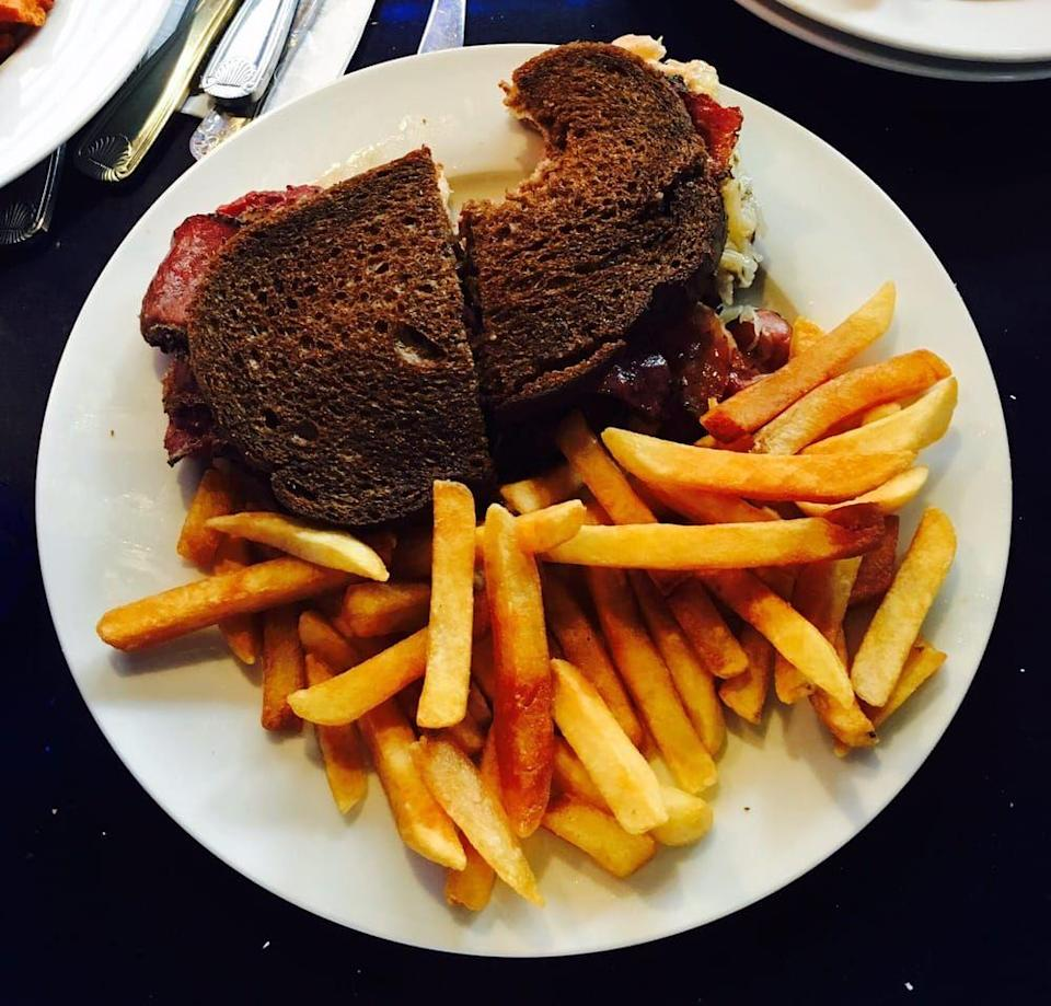 """<p><a href=""""https://www.yelp.com/biz/south-street-diner-boston"""" rel=""""nofollow noopener"""" target=""""_blank"""" data-ylk=""""slk:South Street Diner"""" class=""""link rapid-noclick-resp"""">South Street Diner</a> in Boston</p><p>Grab a seat on the outdoor patio at this greasy spoon, then toss any intent for healthy eating aside. The menu is loaded with amazing sandwiches like lobster rolls, Reubens, and a Monte Cristo, all served with crispy, golden fries.</p>"""