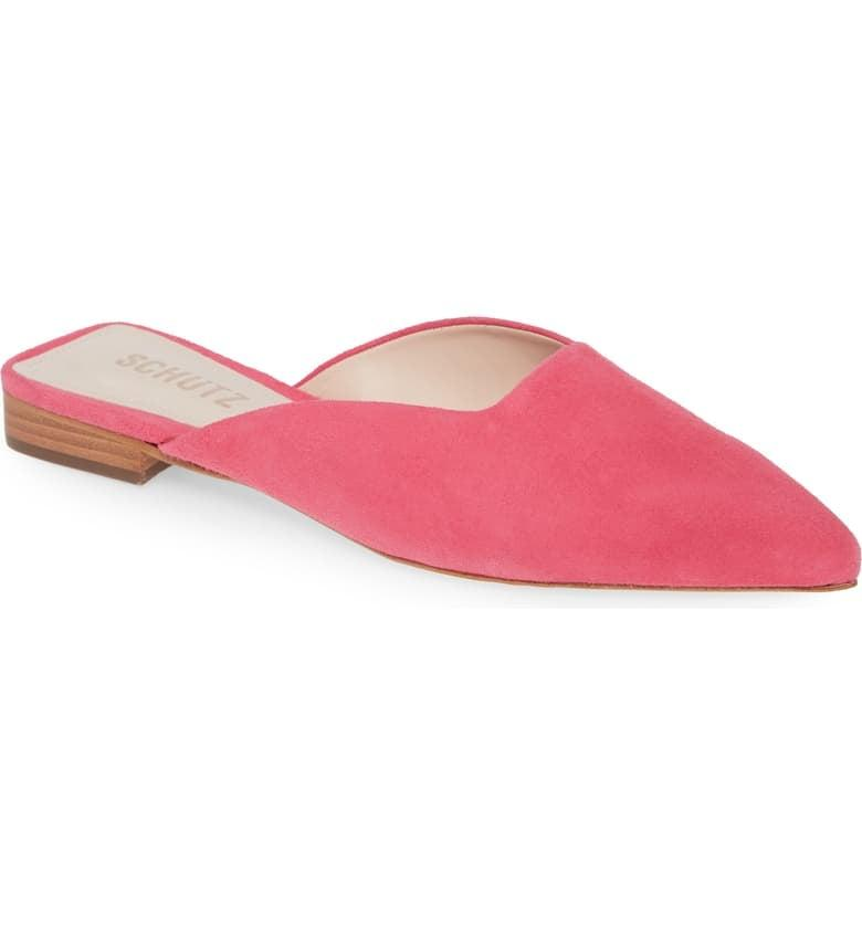 "<p>Add some color to your closet with these <a href=""https://www.popsugar.com/buy/Schutz-Morguetti-Mules-537972?p_name=Schutz%20Morguetti%20Mules&retailer=shop.nordstrom.com&pid=537972&price=165&evar1=fab%3Aus&evar9=47137634&evar98=https%3A%2F%2Fwww.popsugar.com%2Ffashion%2Fphoto-gallery%2F47137634%2Fimage%2F47137654%2FSchutz-Morguetti-Mules&list1=shopping%2Cnordstrom%2Cshoes%2Cwinter%20fashion%2Cfashion%20shopping&prop13=api&pdata=1"" rel=""nofollow"" data-shoppable-link=""1"" target=""_blank"" class=""ga-track"" data-ga-category=""Related"" data-ga-label=""https://shop.nordstrom.com/s/schutz-morguetti-mule-women/5478963/full?origin=category-personalizedsort&amp;breadcrumb=Home%2FWomen%2FShoes%2FMules%20%26%20Slides&amp;color=honey%20beige%20suede&amp;ref=covet.popsugar.com"" data-ga-action=""In-Line Links"">Schutz Morguetti Mules</a> ($165).</p>"