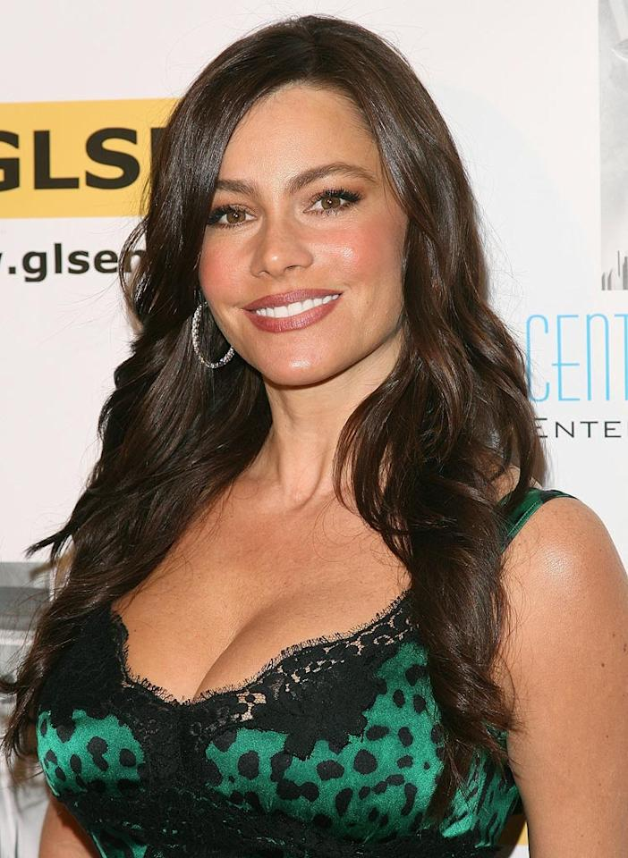 "On ""Modern Family,"" Sofia Vergara plays a Colombian beauty with an accent so thick the fam sometimes struggles to figure out what she's saying. One thing they do understand, along with viewers, is that she's a brunette bombshell! Jesse Grant/<a href=""http://www.wireimage.com"" target=""new"">WireImage.com</a> - October 8, 2010"