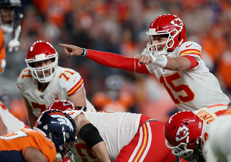Quarterback Patrick Mahomes left Thursday night's game with an injury. (Getty Images)