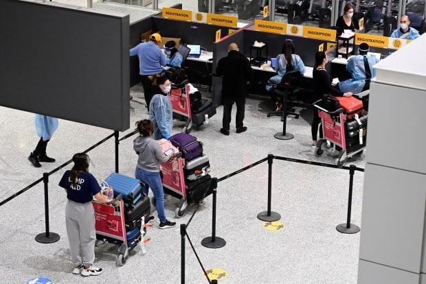 All travellers entering Canada by air have to quarantine in a hotel for three days. Regardless, a variant first detected in India was confirmed in Quebec on Wednesday. (Frank Gunn/The Canadian Press - image credit)