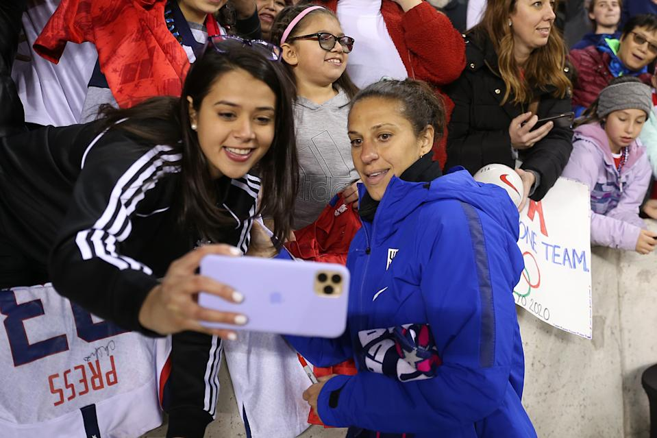 Fans shouldn't expect to get so close with USWNT stars like Carli Lloyd at the SheBelieves Cup. (Photo by Omar Vega/Getty Images)