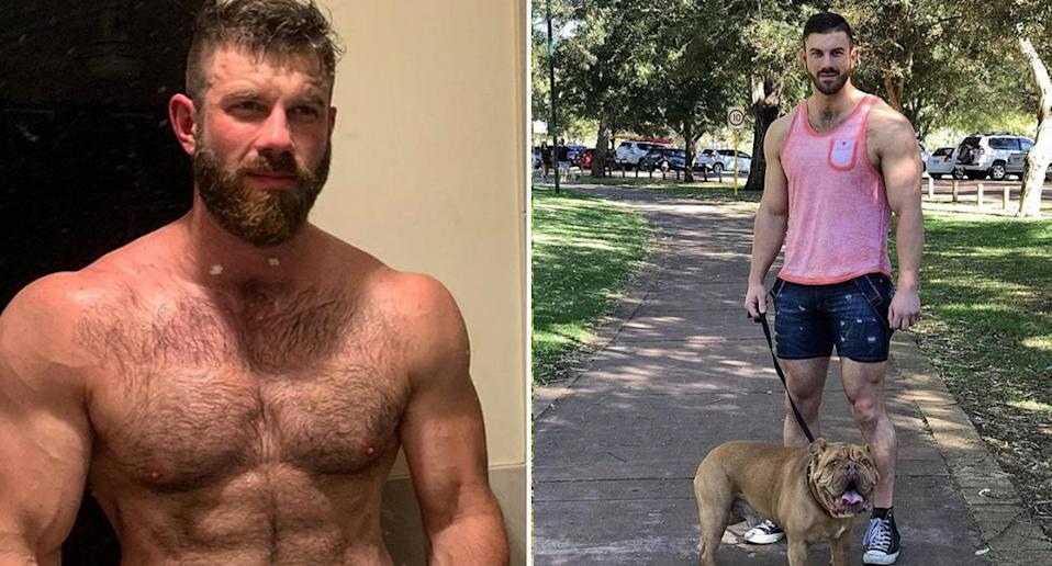 David Marshall, a personal trainer and amateur wrestler, was told by Beyond Blue that they couldn't accept his $5000 donation. Images: Supplied