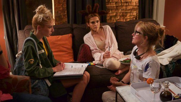 PHOTO: Lea Thompson directs her daughters (from left) Madelyn and Zoey Deutch in 'The Year of Spectacular Men.' (Courtesy of Lea Thompson)