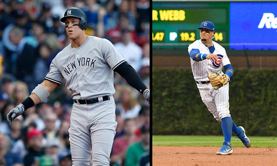 Aaron Judge and Javy Baez figure to be central figures in the MLB wild-card games. (AP)