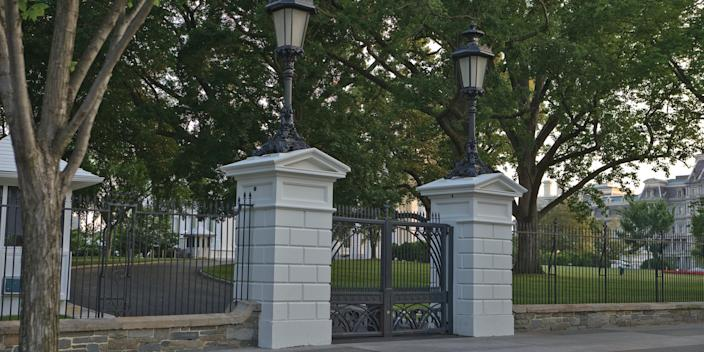 The White House North Lawn entrance, photographed in 2010