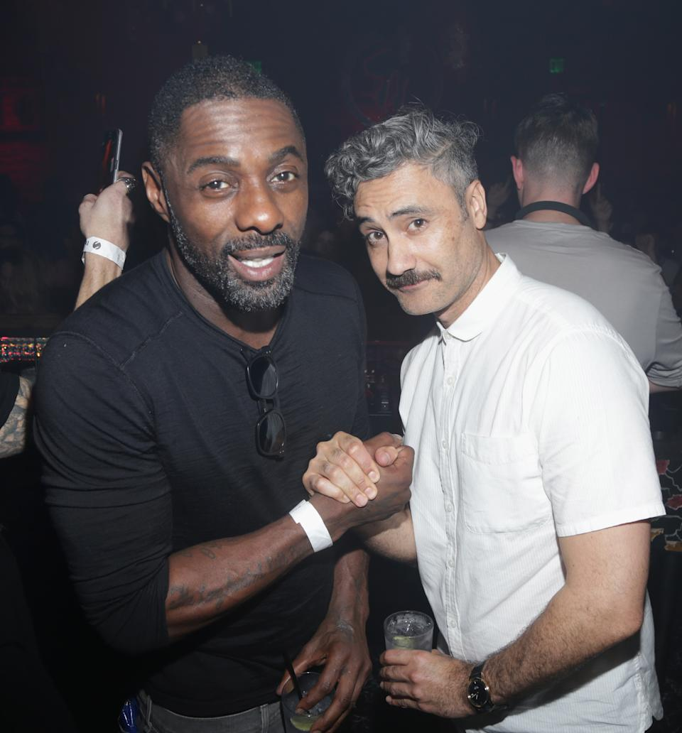 LOS ANGELES, CA - MARCH 03:  Actor Idris Elba and Director Taika Waititi attend the Skream 4 Rhonda event at Sound Nightclub on March 3, 2017 in Los Angeles, California.  (Photo by Jerritt Clark/Getty Images)