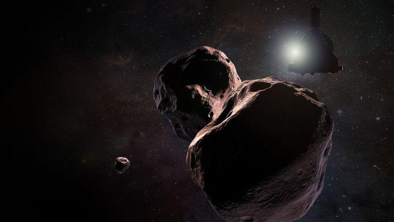 Artist's impression of New Horizons flying past Ultima Thule.