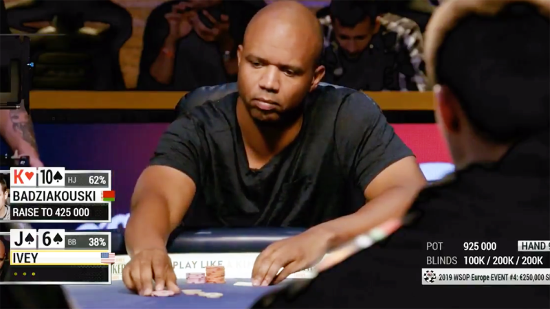 Phil Ivey, pictured here accidentally raising blind.