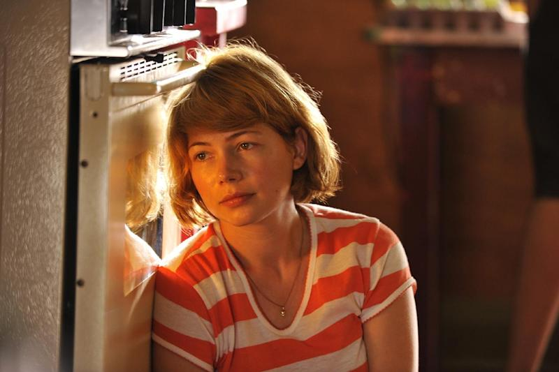 """This film image released by Magnolia Pictures shows Michelle Williams in a scene from """"Take This Waltz."""" (AP Photo/Magnolia Pictures)"""