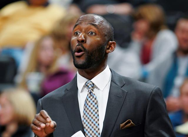 After five years as a Philadelphia assistant, Lloyd Pierce is the new head coach in Atlanta. (AP Photo)