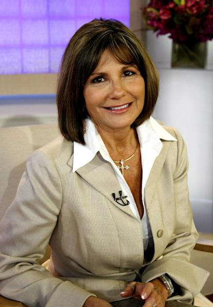 """FILE - In this Sept. 17, 2008 file photo released by NBC, Lynne Spears, mother of singer Britney Spears and actress Jamie Lynne Spears is shown on the set of NBC's """"Today,"""" program, in New York. Testimony is scheduled to begin Tuesday, Oct. 16, 2012, in a case filed against Lynne Spears by her daughter's former manager and confidante, who claims her 2008 book defamed and libeled him by stating that he was isolating and drugging the troubled pop star. (AP Photo/NBC, Heidi Gutman, File) ** NO SALES **"""
