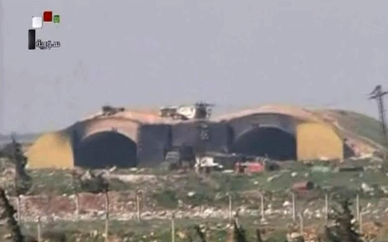 Russia is believed to have at personnel and materiel at the Syrian airfield attacked by the US - Syrian government TV