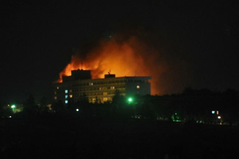 The Haqqani network has been blamed for some of the deadliest attacks in Afghanistan, including the 2011 attack on the Intercontinental Hotel in Kabul (AFP/MASSOUD HOSSAINI)