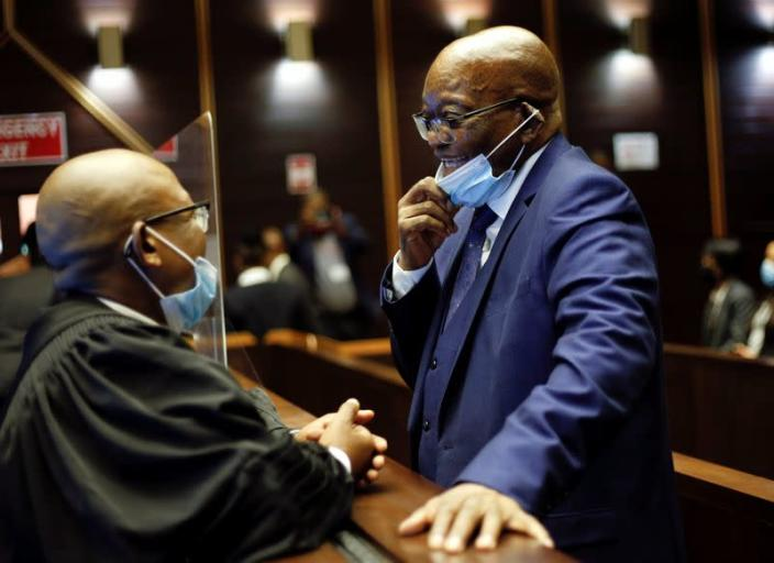 South Africa's former President Zuma appears at the High Court in Pietermaritzburg