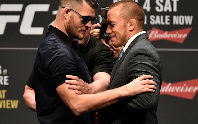 Michael Bisping's UFC middleweight title will be on the line as he meets Georges St-Pierre at UFC 217. (Getty)