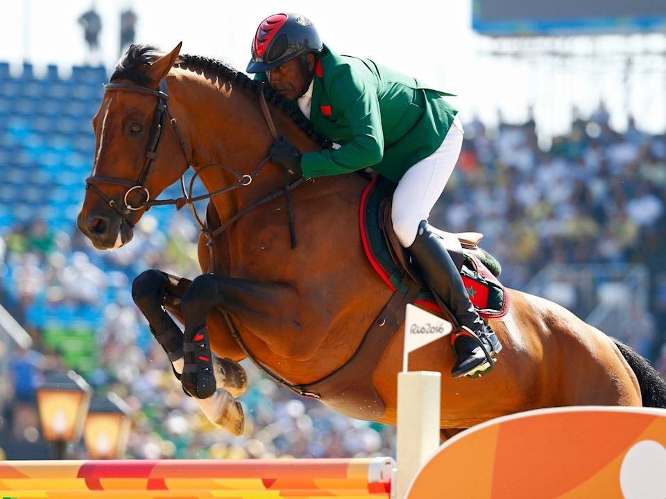Abdelkebir Ouaddar competing at the 2016 rio olympics
