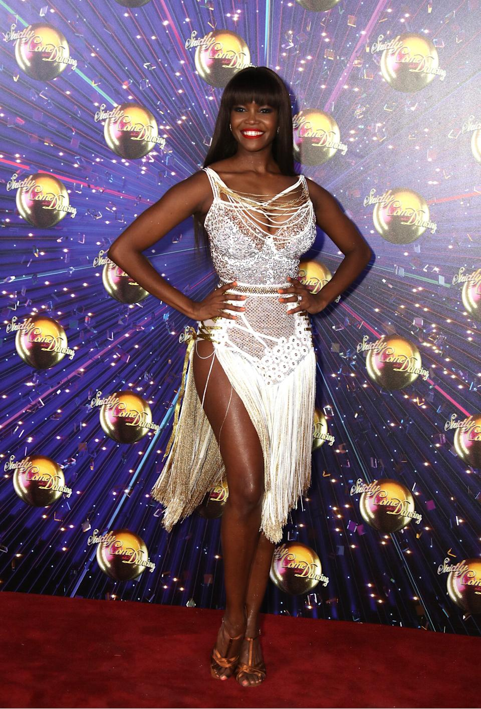 Strictly pro Oti Mabuse at the show's red carpet launch in 2019 (Photo: Mike Marsland via Getty Images)