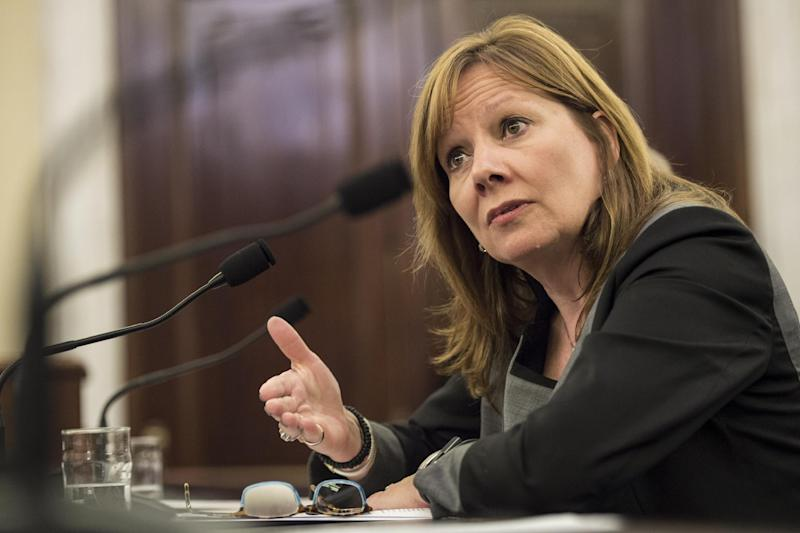 Mary Barra, Chief Executive Officer of General Motors, speaks during a hearing of the Senate Commerce, Science and Transportation Committee on Capitol Hill July 17, 2014 in Washington, DC (AFP Photo/Brendan Smialowski)