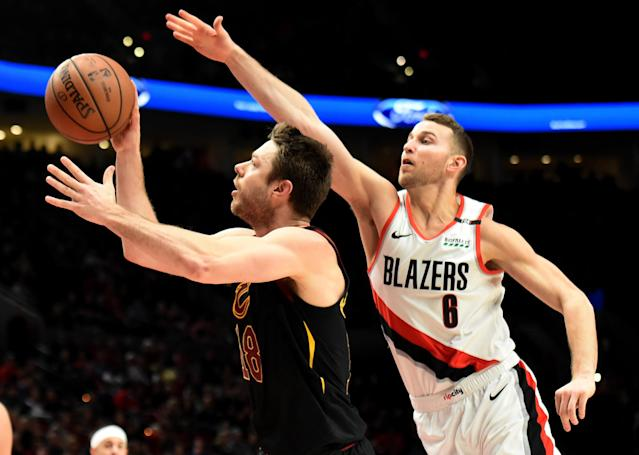 Former Trail Blazer Nik Stauskas signs deal for remainder of season in Cleveland.