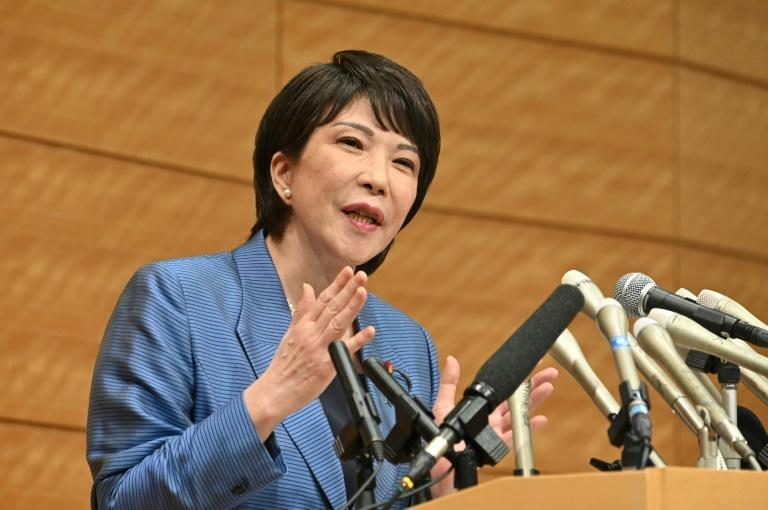 Japanese politician Sanae Takaichi announced Wednesday she will run for head of the country's ruling party (AFP/Kazuhiro NOGI)