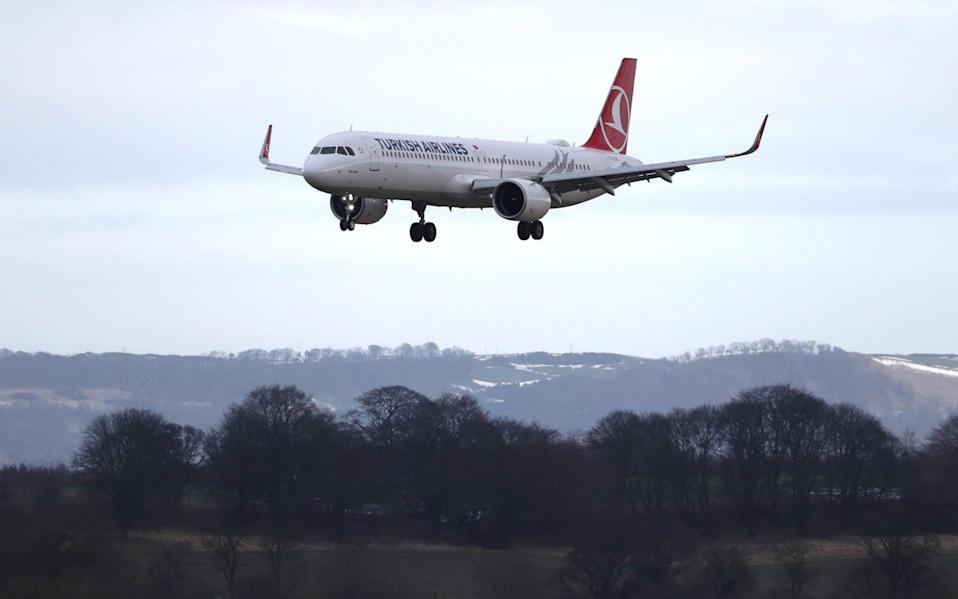 The Turkish Airlines flight was the only international arrival into Scotland's busiest airport -  Andrew Milligan/PA