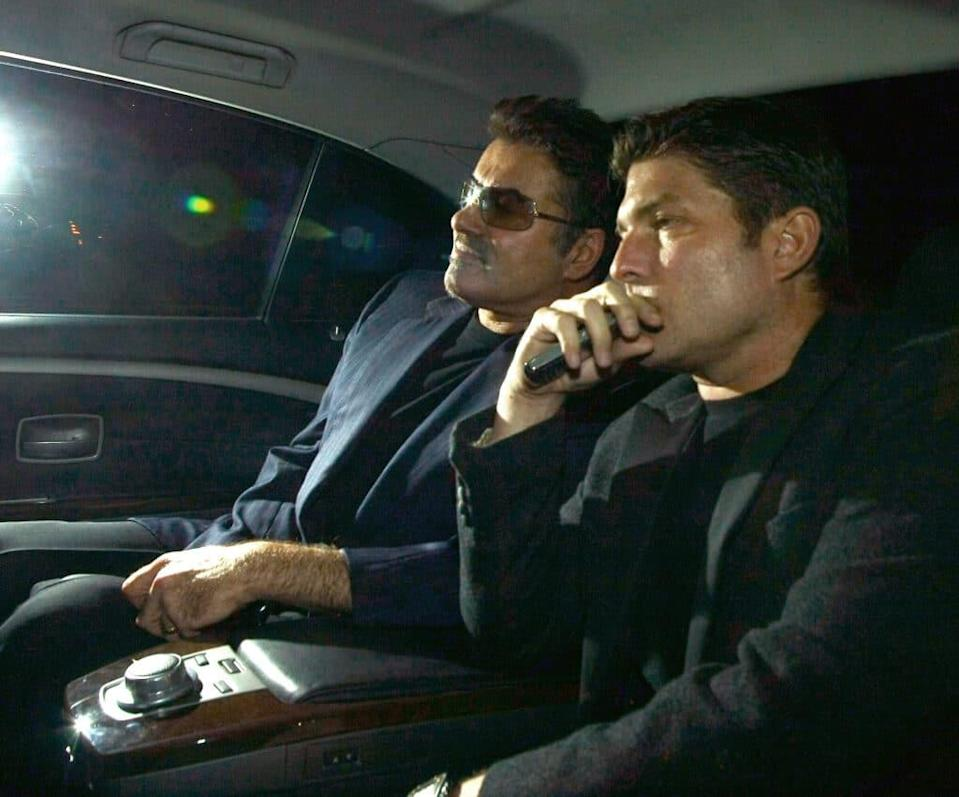 Kenny Goss and George Michael are seen on October 15, 2009 in London, England. (Mark Milan/FilmMagic)