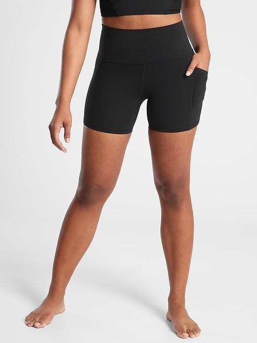 """<p>If you prefer to do yoga in fitted shorts, we'd put the <span>Athleta Salutation Stash Pocket II 5"""" Short</span> ($59) and <span>Athleta Salutation Stash Pocket II 7"""" Short</span> ($59) atop our list. Or, if you like this style for something a bit more intense, why not try the <span>Athleta Ultimate Stash Pocket 7"""" Short</span> ($59) or <span>Athleta Ultimate Stash Pocket 9"""" Short</span> ($59) instead?</p>"""