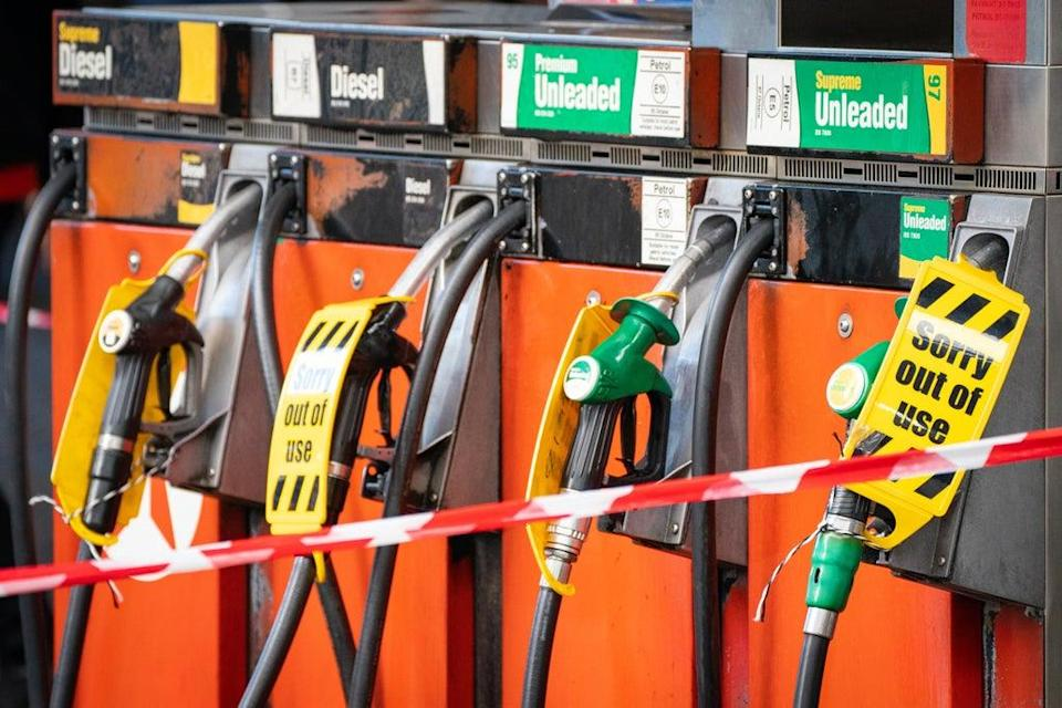 Petrol retailers report one in four filling stations have run dry (Dominic Lipinski/PA) (PA Wire)
