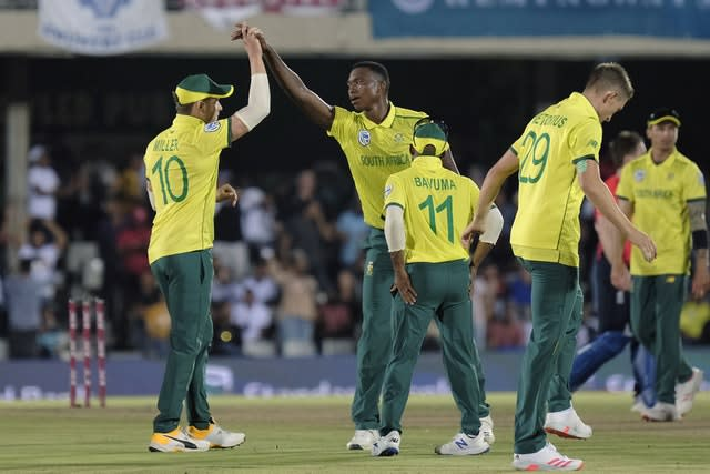 Lungi Ngidi excelled at the death (Michael Sheehan/AP)