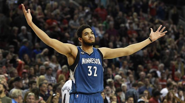 Karl-Anthony Towns wants it all, and he wants it now. (AP)