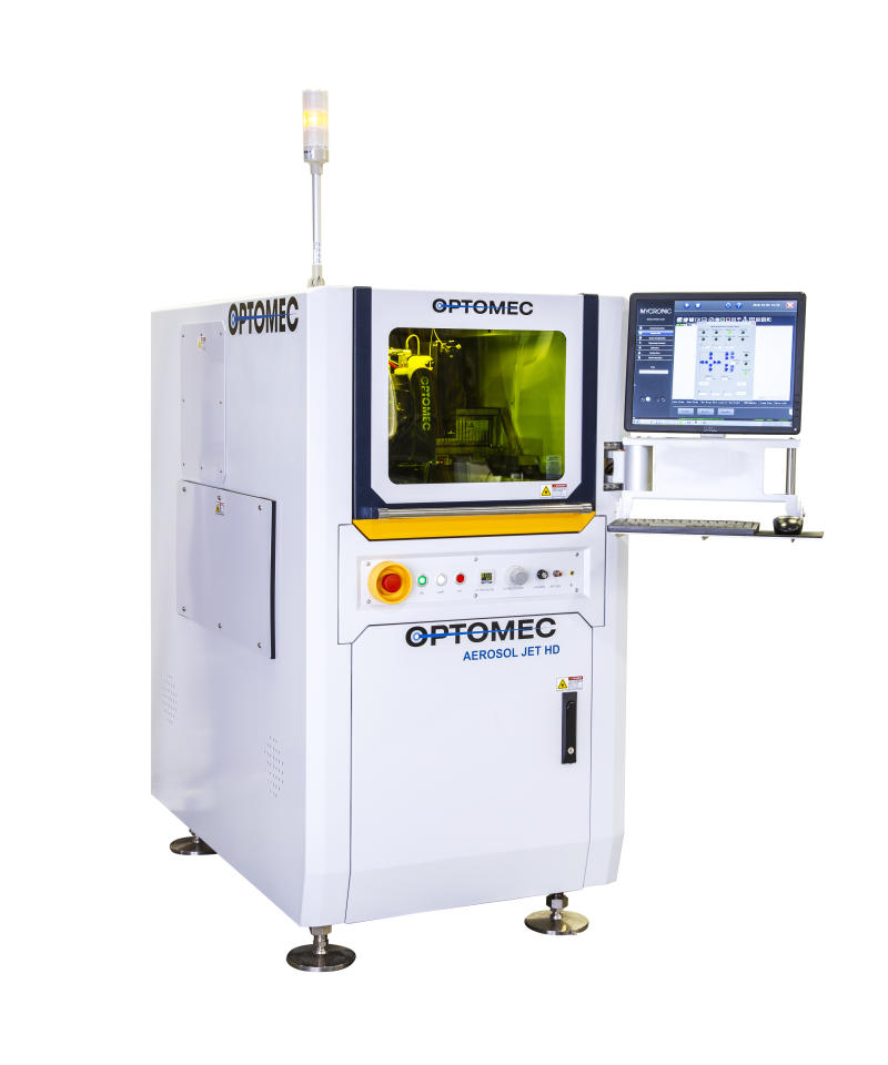 Optomec Extends Production Runtimes for 3D Printed Electronics Solutions