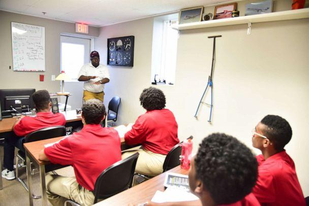 PHOTO: A graduate of the Tuskegee Next program, Kevin Lindsey, is pictured here now teaching at the program. (Photography by LeVern Danley)