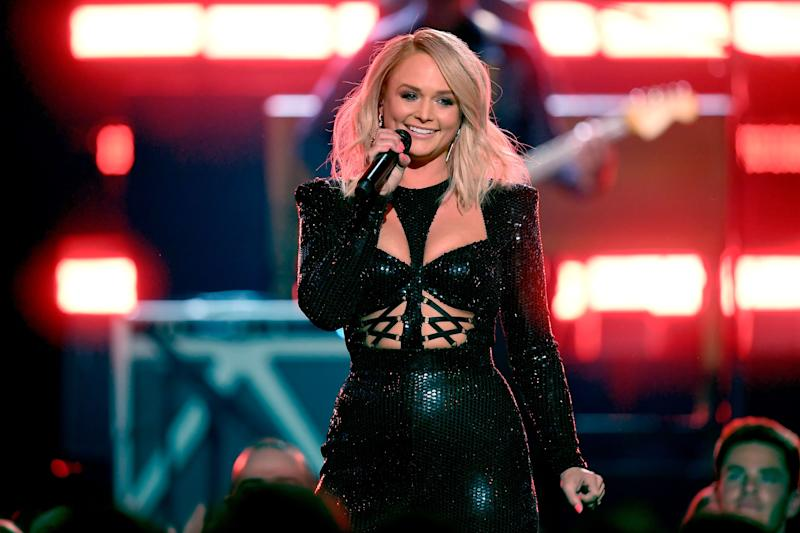 Miranda Lambert on stage.